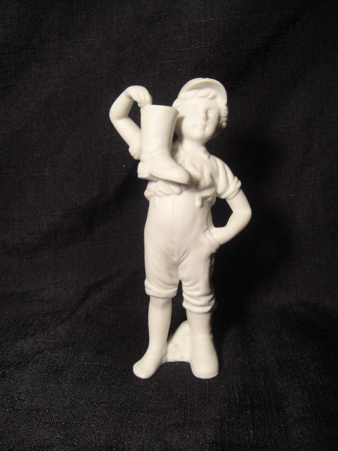 boy with boot figure stamp