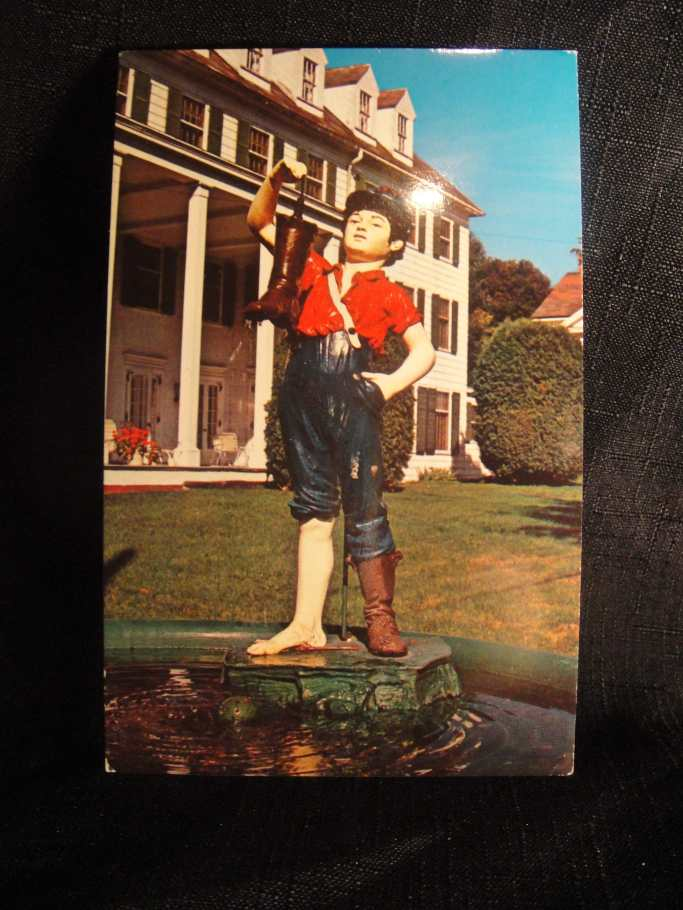 boy with boot no shadow postcard
