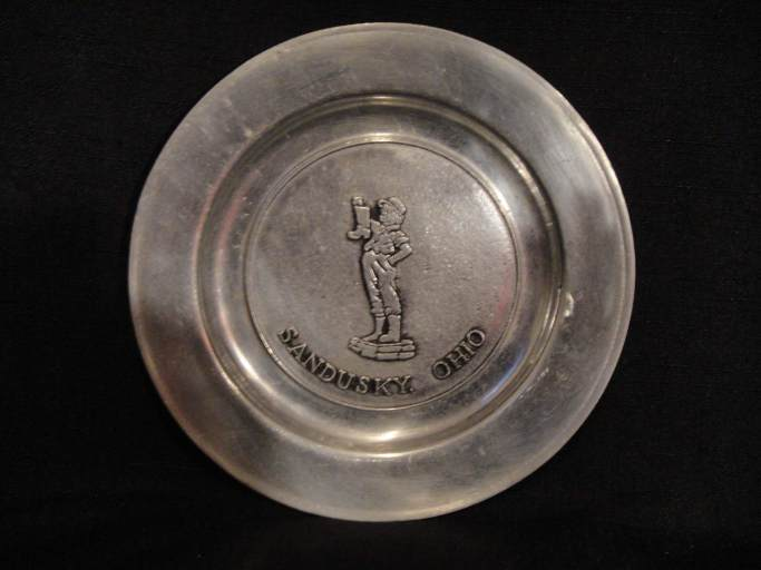 Boy with Boot Pewter Plate