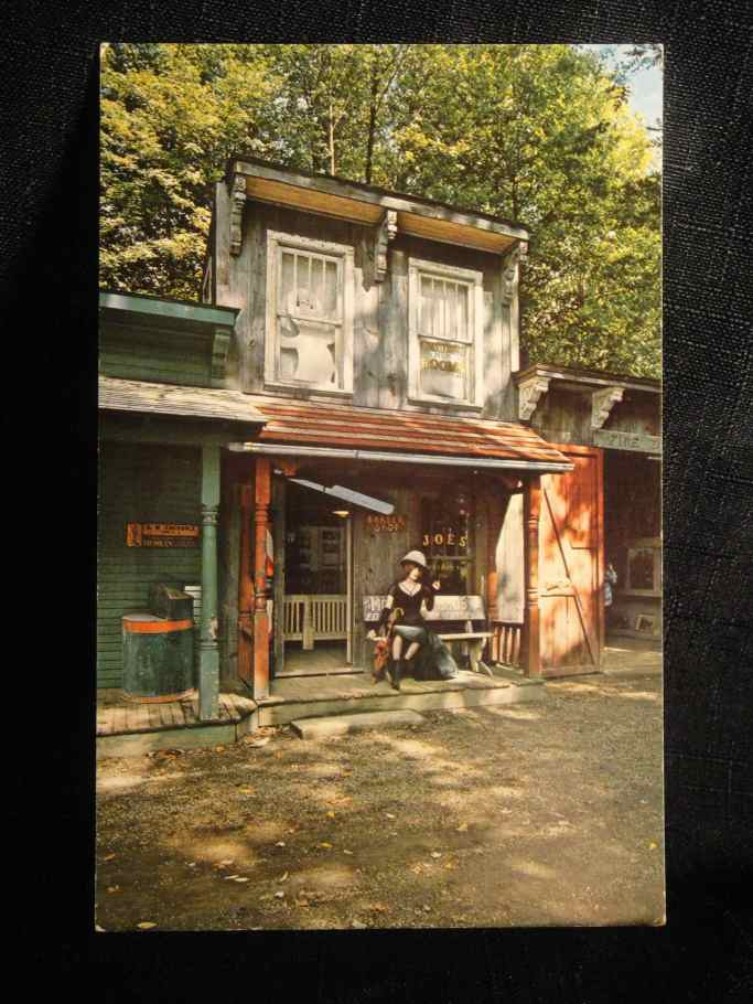 ghost town barber postcard