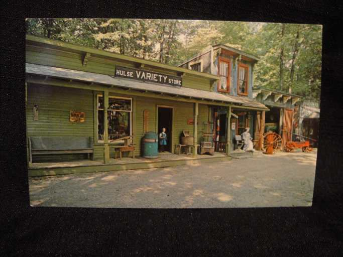 ghost town variety postcard