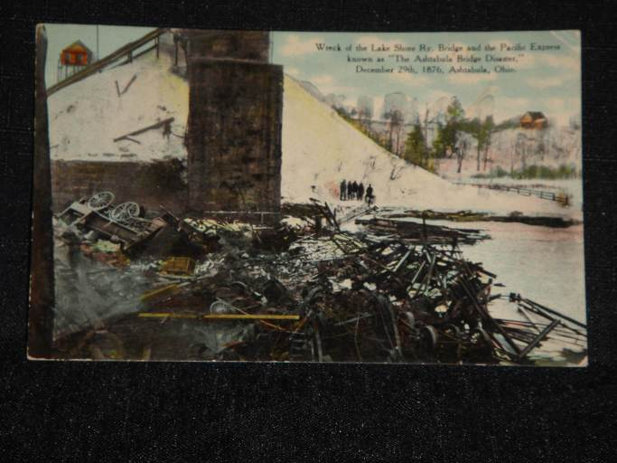Train Disaster Postcard